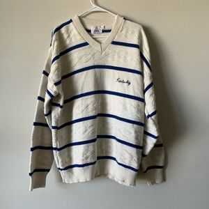 Vintage Kentucky Wildcats striped varsity sweater